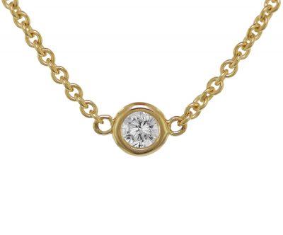 trendor 75193 Goldkette für Damen Gelbgold 375 mit Zirkonia