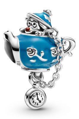 Pandora 799345C01 Charm Alice im Wunderland Nichtgeburtstags-Party Teekanne