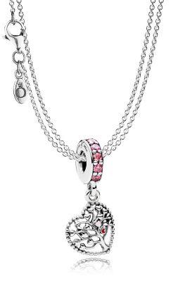 Pandora 08392 Halskette mit Charm-Anhänger Liebesbaum