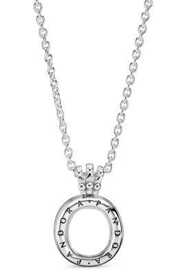 Pandora 398332-60 Halskette mit Medaillon Pandora Locket Crown O