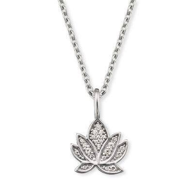 Engelsrufer ERN-LILLOTUS-ZI Silber Damen-Kette Lotus