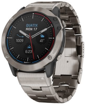 Garmin 010-02157-31 Quatix 6X Solar Titan Marine GPS Smartwatch