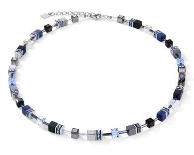 Coeur de Lion 5011/10-0700 Damen-Halskette GeoCUBE Blau