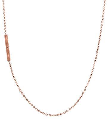 Ernstes Design AK18 Halskette Edelstahl Rotgold beschichtet