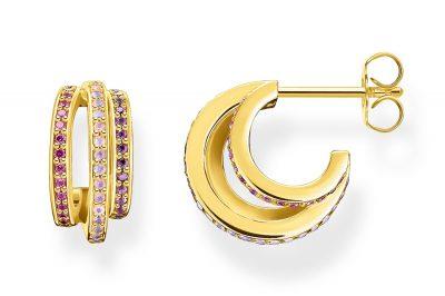 Thomas Sabo CR663-973-7 Damen-Ohrringe Goldfarben Farbige Steine