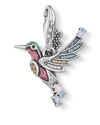 Thomas Sabo 1826-845-7 Charm-Anhänger Bunter Kolibri Silber