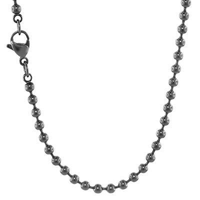 Blumenkind SC073GR Damen-Halskette Grau