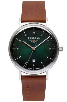 Bauhaus 2140-4 Herren-Armbanduhr Grün