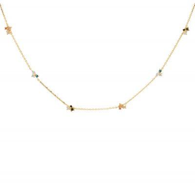 P D Paola CO01-179-U Damen-Collier Halskette La Palette