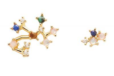 P D Paola AR01-412-U Damen-Ohrringe Sternzeichen Schütze Silber vergoldet