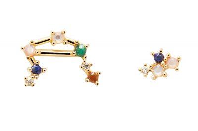 P D Paola AR01-410-U Damen-Ohrringe Sternzeichen Waage Silber vergoldet