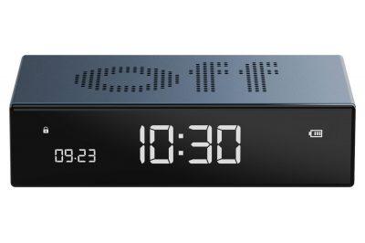 Lexon LR152B Digitalwecker Flip Premium Wecker Blau