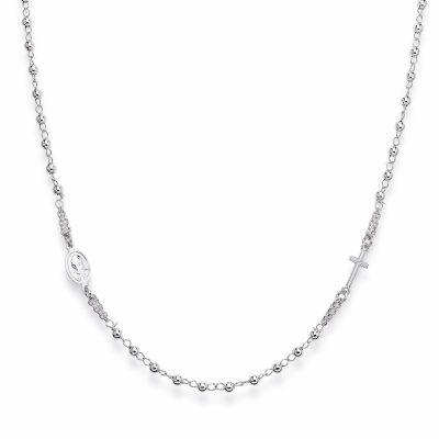 Amen CROB3 Damen-Halskette Rosenkranz 925 Silber